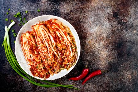 Kool Kimchi. Koreaanse traditionele keuken. Gefermenteerd voedsel. Ruimte kopiëren
