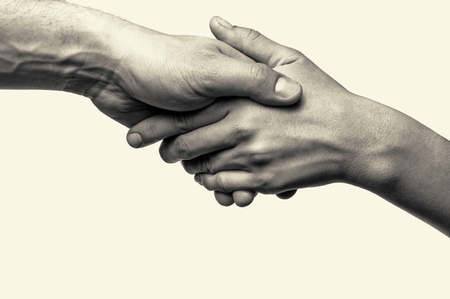 trust people: Two hands (helping hand to a friend)