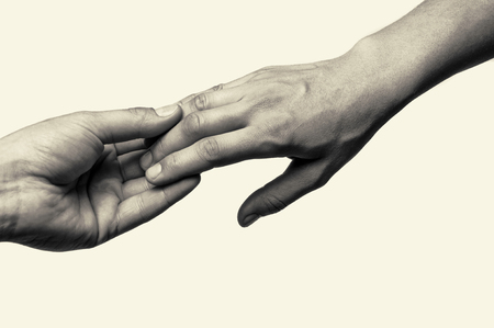 farewell: Two hands (farewell touch lovers)