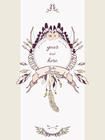 special events: Vector card templates in boho style for for special events. Can be used as invitations, greeting cards, graphic designs, greeting banner