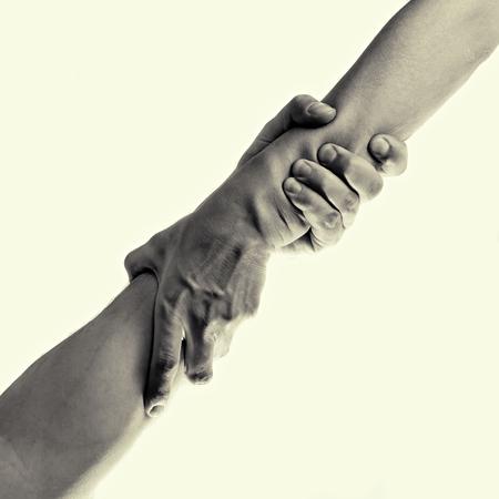 hand, geïsoleerd, gestemd beeld helpen