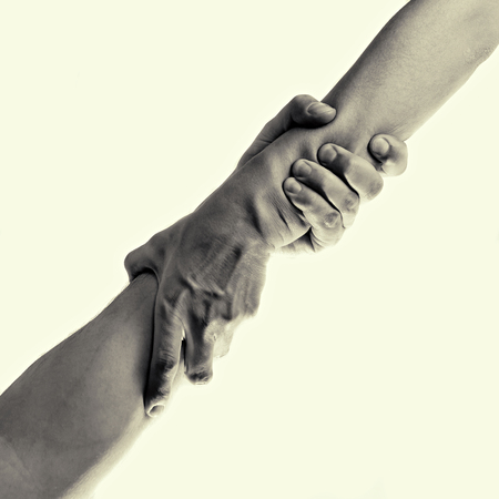 helping hand, isolated, toned image Stok Fotoğraf - 58727092