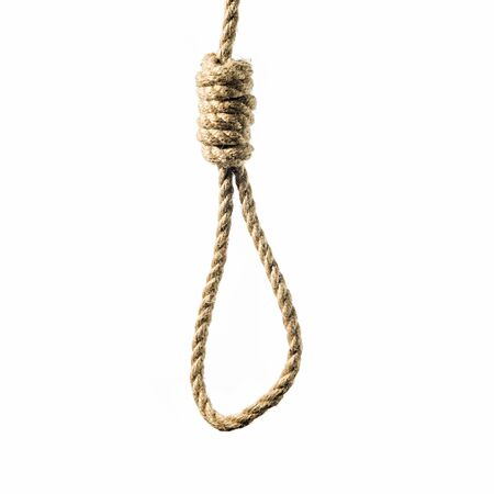isolated image hanging rope with Lynchs loop Stock Photo