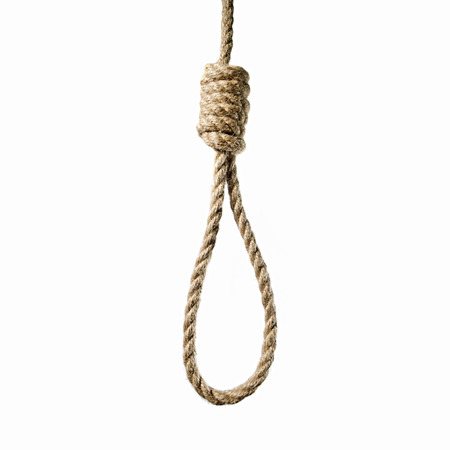 mage hanging rope to Lynchs loop on a white background