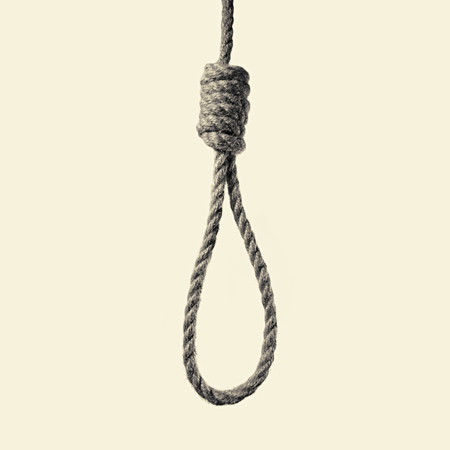 toned image of a hanging rope with Lynchs loop