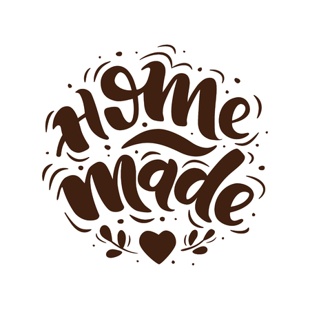Home made. Hand-drawn lettering. Stylish logo for your product, shop, etc.