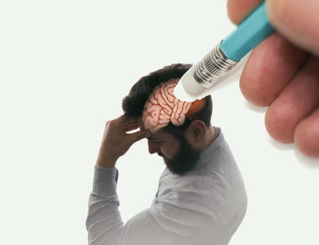 Memory loss concept. Dementia, Alzheimer's Syndrome, Amnesia.
