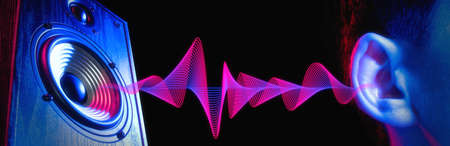 Sound wave. Transfer of sound from the speaker to the human ear. Loud noise. Deafness.