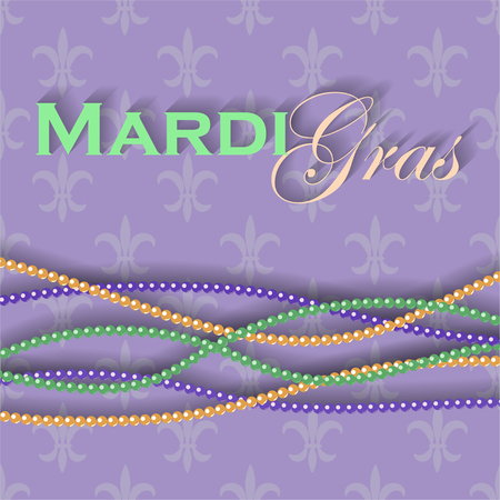 Mardi Gras symbols on purple background. EPS10 Ilustração