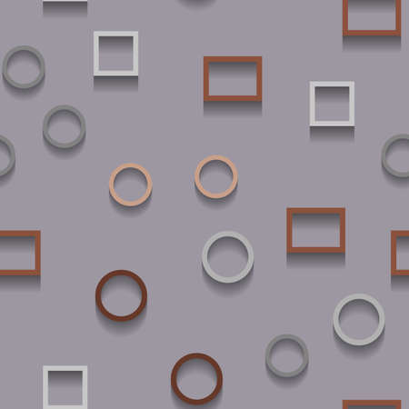 Vector abstract chaotic texture with geometric shapes