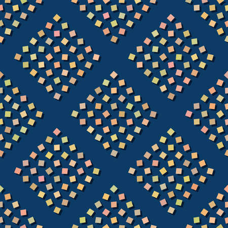 Texture of yellow squares on a blue background