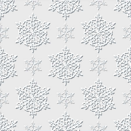 Christmas Seamless Pattern With Snowflakes On A Light Background
