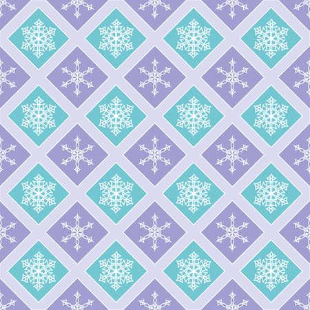 Seamless pattern of diamonds and snowflakes.