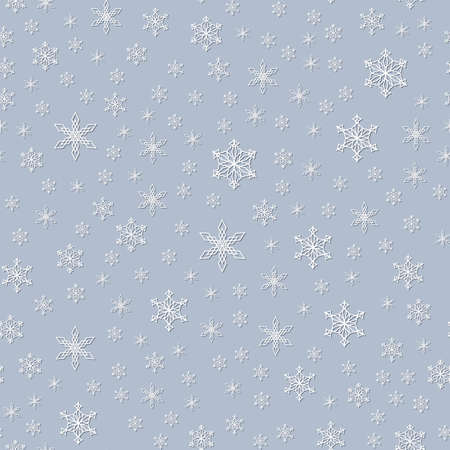 Christmas, New Year Seamless Pattern Of Snowflakes