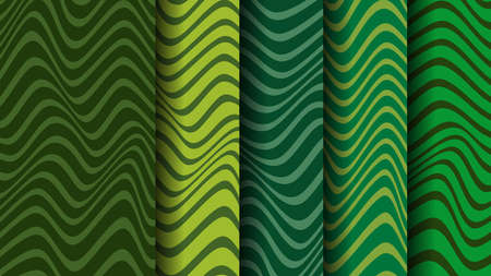 Vector pattern with green stripes.