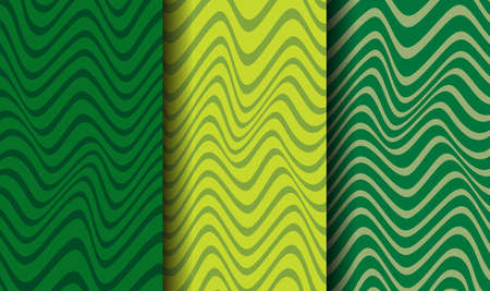 Vector pattern with green stripes. A design concept for celebrating St. Patricks Day. Illusztráció