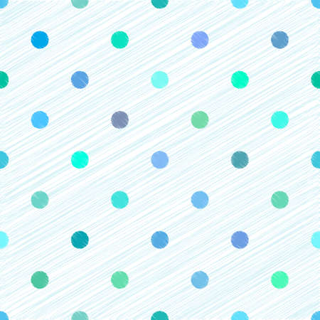 Abstract geometric seamless pattern with colorful circles