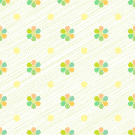 Abstract geometric seamless pattern with colorful flower