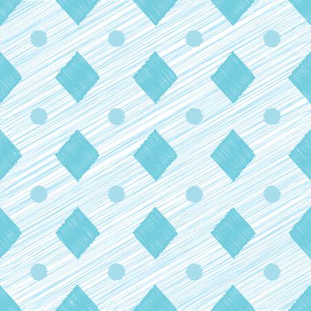 Abstract geometric seamless pattern with circles and rhombuses Illusztráció