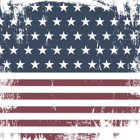 American Grunge Flag For. Vector Illustration Illusztráció