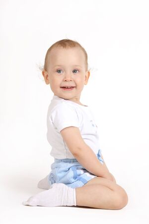 The small child on a white background Stock Photo - 4738929
