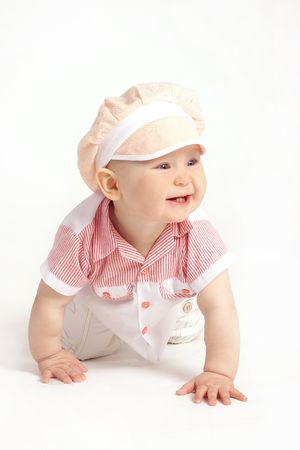 The small child on a white background Stock Photo - 4738987