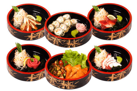 Allsorts from seafood in the Japanese style Stock Photo - 4922518
