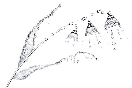 Splash on a water surface photo