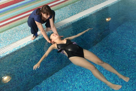 Employment with pregnant women in small pool Stock Photo - 7564940