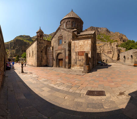 geghard: The ancient Christian temple Geghard in the mountains of Armenia.