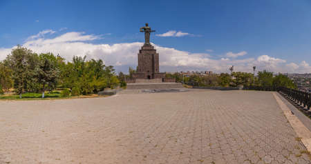 machinery space: Monument Mother Armenia in the city of Yerevan Stock Photo