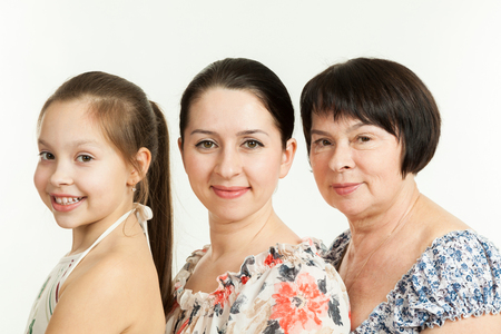 three generations of women: three generations of women. grandmother, mother and daughter
