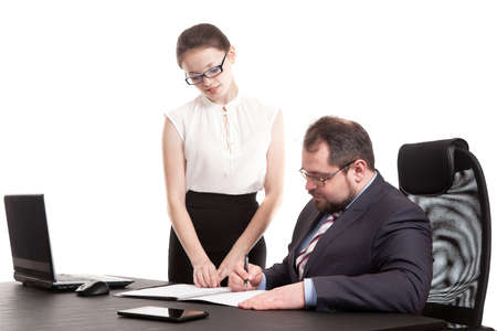 transfers: the secretary transfers documents for the signature to the head