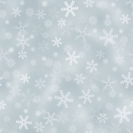 weldless: Seamless light silver background with snowflakes Stock Photo