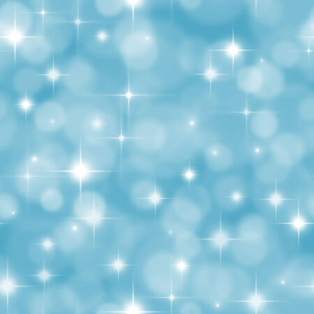 jointless: Abstract seamless blue pastel background with boke effect and stars