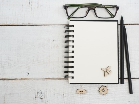 Blank notepad page for your wishes Stock Photo