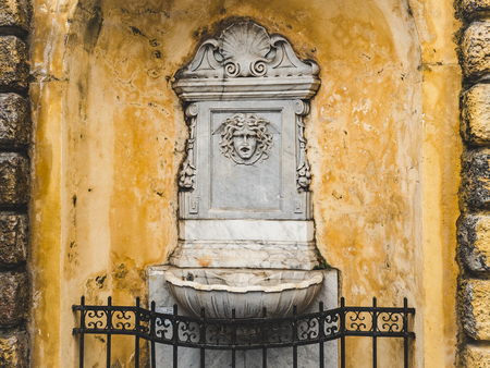 Beautiful fountain in the historic part of the old city