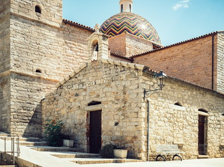 Beautiful, historical building of the medieval church Stock Photo
