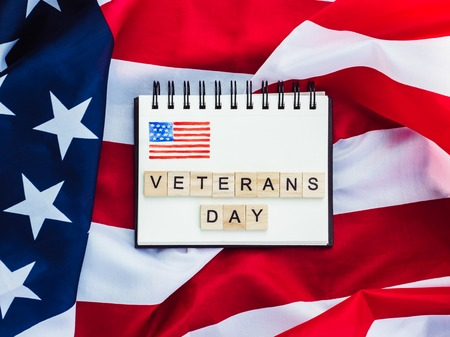 Beautiful Greeting Card on Veterans Day. Preparation for the holiday