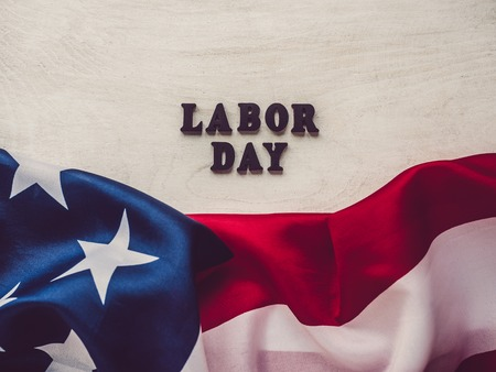 Beautiful card with congratulations on Labor Day