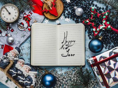 Merry Christmas and Happy New Year. Beautiful card Zdjęcie Seryjne