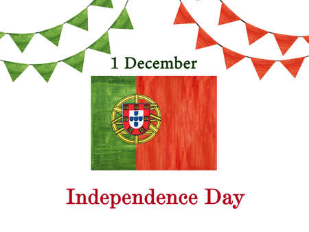 Happy Independence Day. Beautiful greeting card. Close-up Standard-Bild