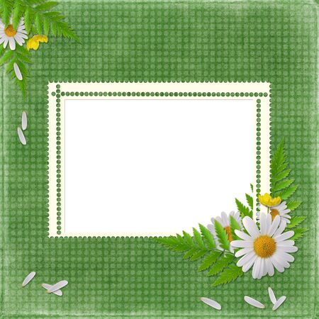 dekor: card for the holiday  with flowers on the abstract background