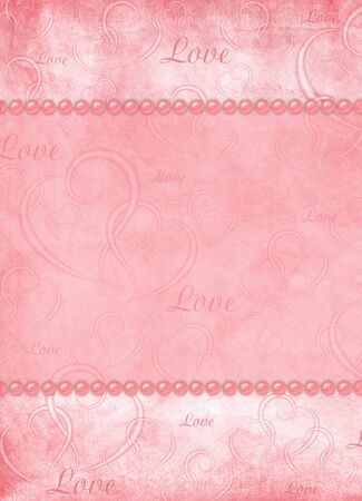 Valentines day card on the abstract blue background