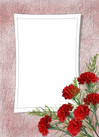 Card for the holiday with flower on the abstract background photo