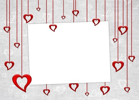 Valentines day card on the abstract background photo