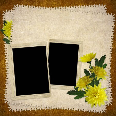alienated: Card for the holiday  with flowers  on the abstract background Stock Photo