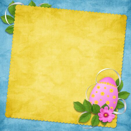 Easter card for the holiday  with egg on the abstract background photo