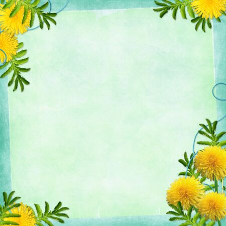wedlock: Card for invitation or congratulation with flowers on the abstract background