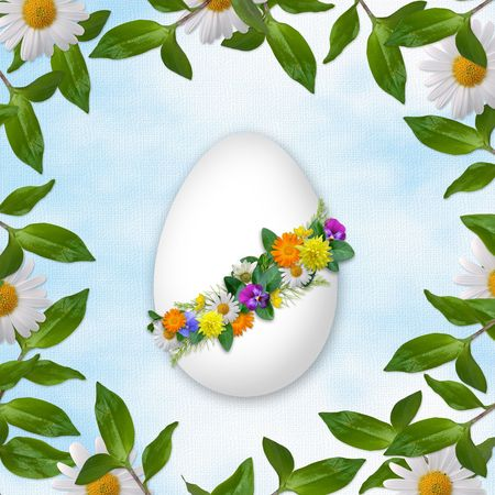 testicle: Easter card for the holiday  with egg on the abstract background